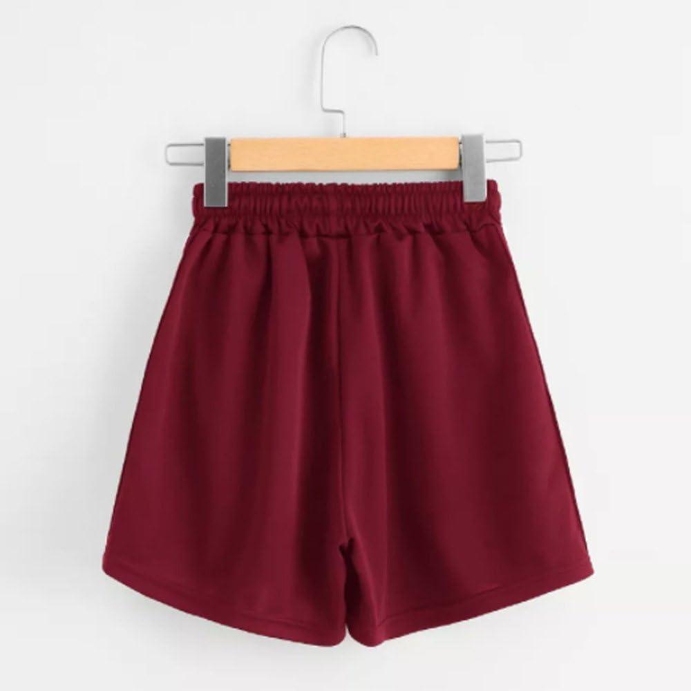 Pantaloncini Estivi Casual Shorts Arcobaleno a Strisce met/à Vita Sciolto Pantaloncini in Vita con Coulisse Mecohe Pantaloncini Sportivi da Donna