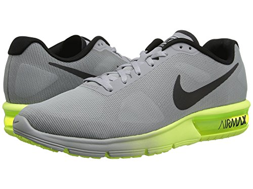 NIKE Grey Max Sequent volt Grey Running Air Black 's Men Wolf Shoes r4xqRrH