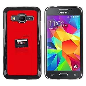 Samsung Galaxy Core Prime - Metal de aluminio y de plástico duro Caja del teléfono - Negro - Funny I'M Your Father Cassette