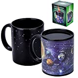 Antner Magic Coffee Mug Solar System Ceramic Heat Sensitive Color Changing Cup,12 oz