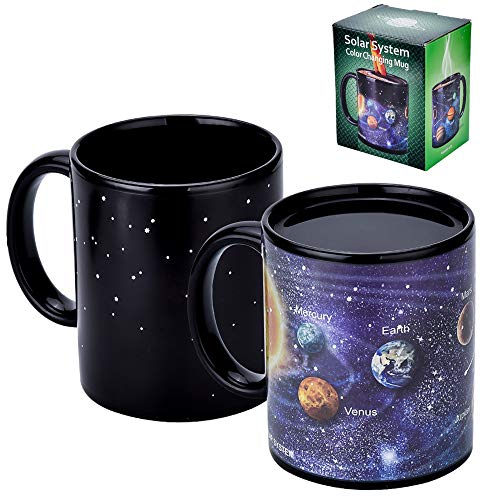 Antner Magic Coffee Mug Solar System Ceramic Heat Sensitive Color Changing Cup,12 oz by Antner