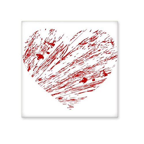 hot sale 2017 Valentine's Day Heart Shaped Red Drip Painting Illustration Pattern Ceramic Bisque Tiles for Decorating Bathroom Decor Kitchen Ceramic Tiles Wall Tiles