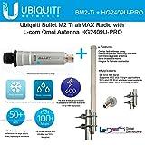 Ubiquiti Bullet M2 Ti airMAX Radio w/ L-com Omni Antenna HG2409U-PRO