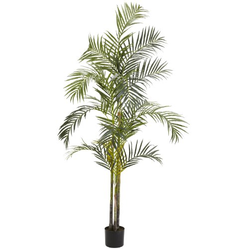 Nearly Natural 5317 Areca Palm Silk Tree, 7-Feet, Green ()