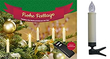 Led Weihnachtskerzen 20er Set Kabellose Amazon De Elektronik
