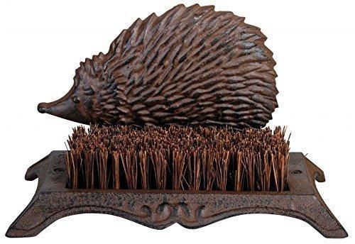 Cast iron hedgehog bootscaper, cast iron hedgehog doormat, hedgehog mat, hedgehog doormat, hedgehog brush, hedgehog shoes brush.