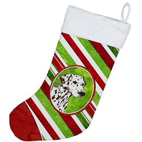Carolines Treasures SS4538-CS Dalmatian Winter Snowflakes Christmas Stocking Multicolor 11 x 18