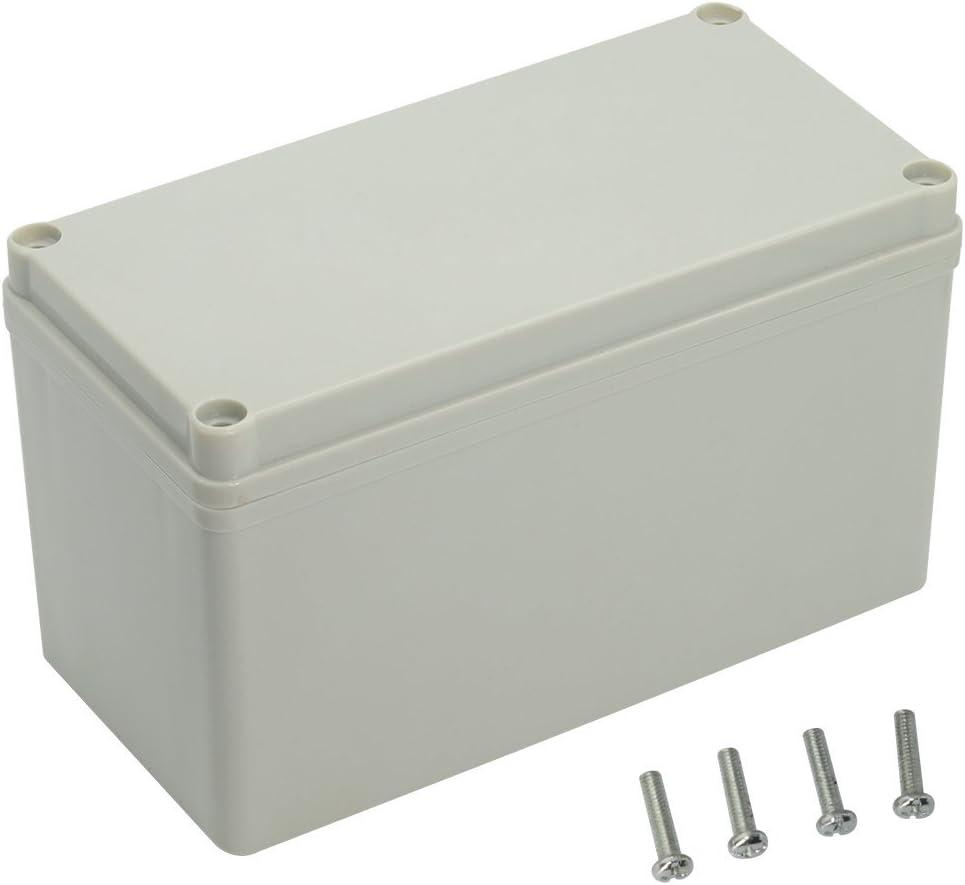LeMotech Waterproof Dustproof IP67 Junction Box DIY Case Enclosure Gray 6.3 x 3.1 x 3.7 inch (160 x 80 x 95 mm)