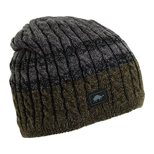Turtle Fur Headwear - Mens Slater Ragg, Fleece Lined Knit Ragg Wool Beanie
