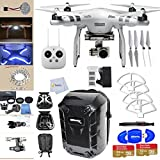 DJI Phantom 3 Advanced Quadcopter Drone with 2.7K HD Video Camera This Bundle Includes: Ultimaxx Hard-shell Backpack 2 32GB Sandisk Ultra Micro SD Memory Cards, Front & Side Vivid LED Light Panels & More