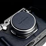 Gariz XA-CFX100NV2 Genuine Leather Camera Capfix Cap Fixs for Fuji Fujifilm X100F X100T X100S Leica X1 X2, Navy Blue