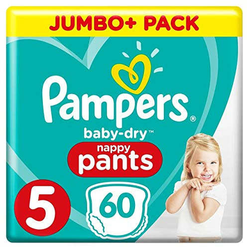 x60 Culottes 12-17 kg Pampers Couches-Culottes Taille 5 Baby Dry Pants - Jumbo+ Pack