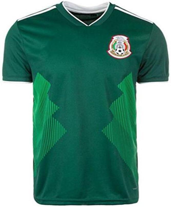 Lvbeis Copa Mundial 2018 Hombres Ropa Deportiva Fútbol México Camiseta Transpirable,Midium