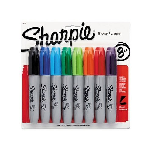 Sharpie Chisel Tip Assorted Colored Markers 8 Count - 2 Pack