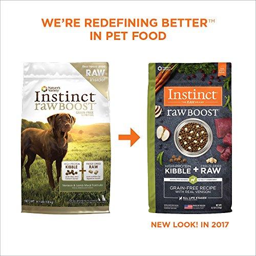 Instinct Raw Boost Grain Free Venison Lamb Meal Formula Natural