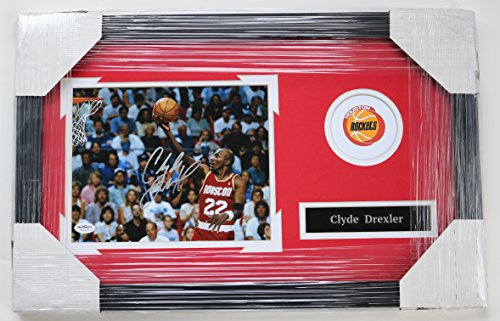 Clyde Drexler Houston Rockets Signed Autographed 22