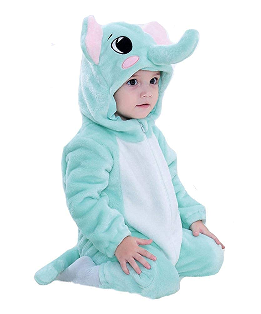 Uncel Lee Unisex-Baby Animal Flannel Crawling Clothes Cosplay Pajamas Onesie Cartoon Infant//Toddler Costume
