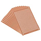 uxcell 5x7cm Single Sided Universal Paper Printed Circuit Board for DIY Soldering Brown 10pcs