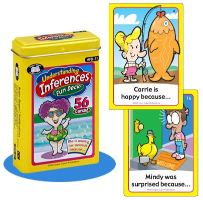 Super Duper Publications Understanding Inferences Fun Deck Flash Cards Educational Learning Resource for Children