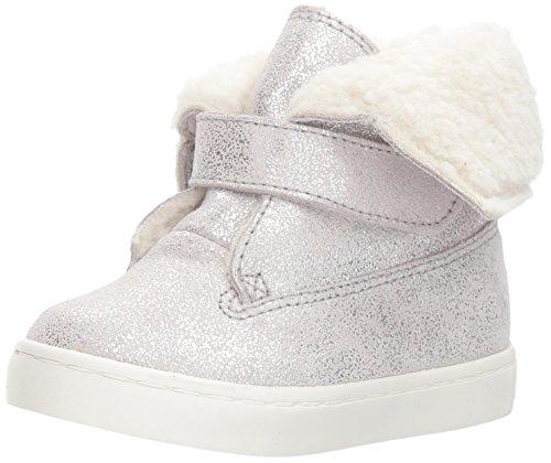 Polo Ralph Lauren Kids Girls' Siena Bootie Sneaker, Silver/Metallic Suede, 8 Medium US - Boots Toddler Ralph Lauren Polo