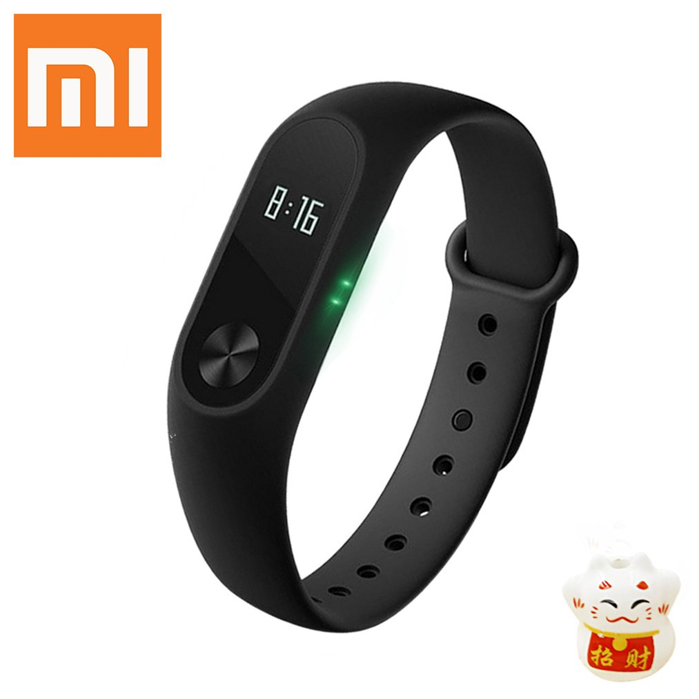 Xiaomi Mi Band 2 Smart Fitness Tracker Bluetooth with OLED Display Heart Rate Monitor IP67 Water-resistant Wristband Wearable Pedometer Activity and Sleep Monitor Tracker for Android & IOS