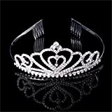 Gigory Wedding Bridal Crown Gorgeous Rhinestone Tiara Headband Comb Pin Headdress Prom
