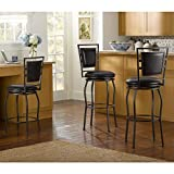 Countertop Bar Barstool / Height Adjustable Bar Stools, Oh! Home Harold Contemporary Adjustable Stools with Swivel Seat OSLN1291, Set of 3