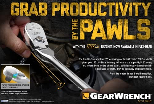 GearWrench 81212P Stubby Ratchet 5x1.30x0.55