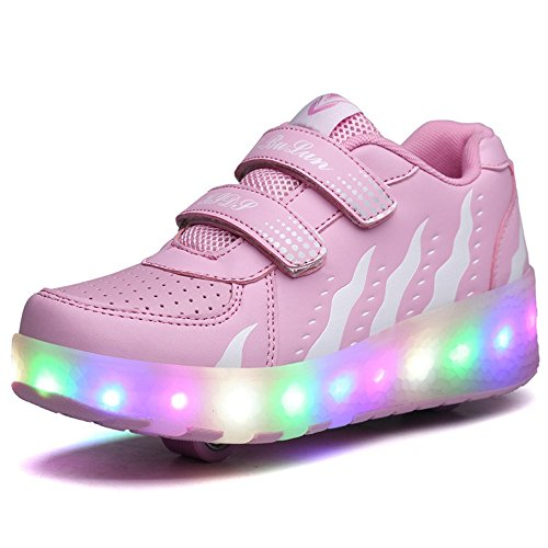 A2kmsmss5a Fashion Cool Kids Boys Girls Double Wheel Shoes Fashion A2kmsmss5a Shinning LED Light up Skate Sneakers for Unisex 3d1e79
