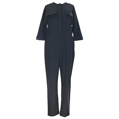 3fefeb1ebf Amazon.com  Topshop Boutique Tailored Black Jumpsuit  Clothing