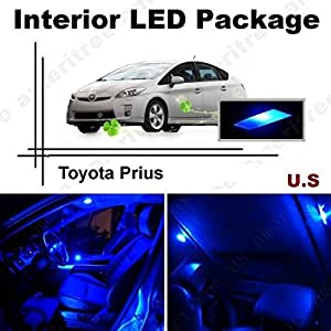 ameritree toyota prius 2004 2008 10 pieces blue led lights interior package. Black Bedroom Furniture Sets. Home Design Ideas