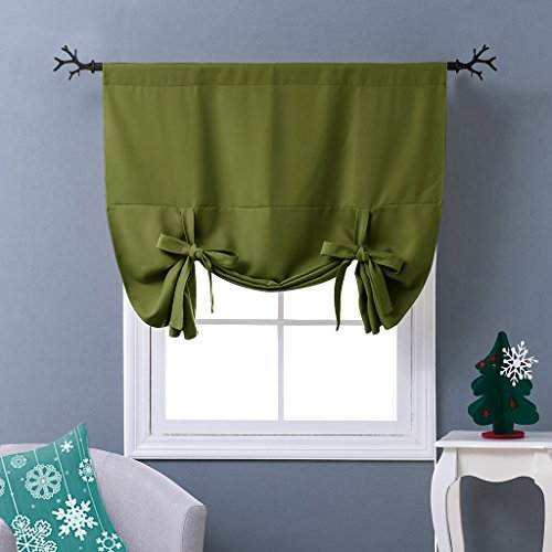 NICETOWN Blackout Tie-Up Valance Curtain - Balloon Shade Cor