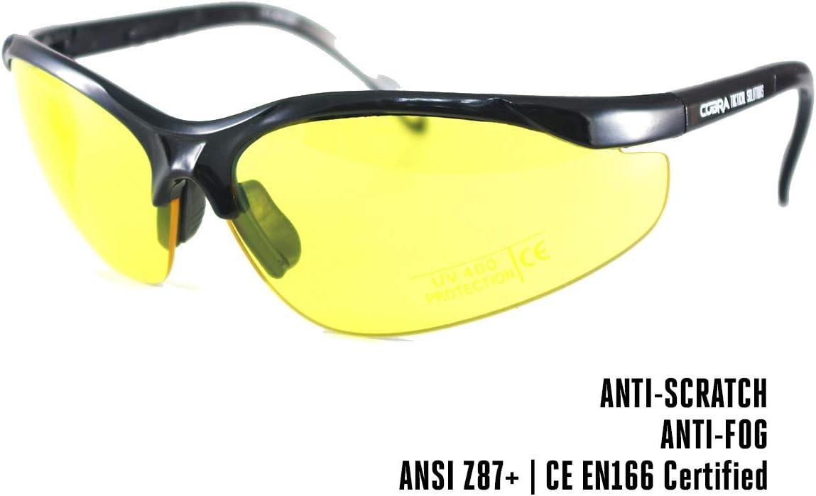 Gafas tácticas para airsoft de Cobra   Protección antivaho y antiarañazos   Gafas de tiro   Lentes de trabajo y balísticas con patillas ajustables