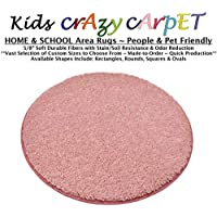 Round 6 - Fairy DUST Pink ~ Kids Crazy Carpet Home & School Area Rugs | People & Pet Friendly – R2X Stain Resistance & Odor Reduction