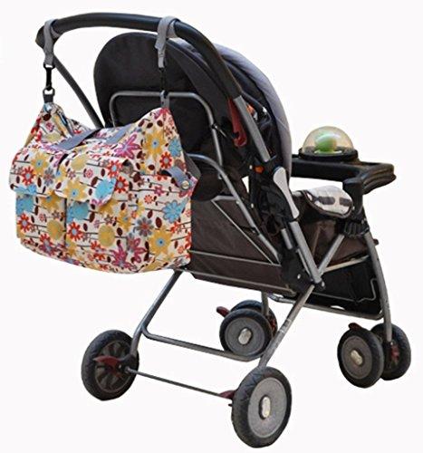 LANDUO 3Pcs LANDUO Women's Baby Diaper Nappy Tote Bag Large Red