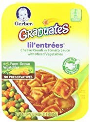Gerber Graduates Cheese Ravioli in Tomato Sauce with Mixed Vegetables, 6.6-Ounce (Pack of 8)