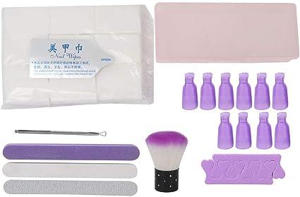 Rotekt - Juego de separadores de esmalte de uñas y almohadillas de ...
