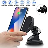 Wireless Car Charger, Fast Qi Magnetic Wireless Car Charger Mount Air Vent Phone Holder,Wireless Charging for iPhone X iPhone 8/8 Plus, Samsung Galaxy Note 8/S 8/S 8+/S 7/S 6 Edge+/Note 5