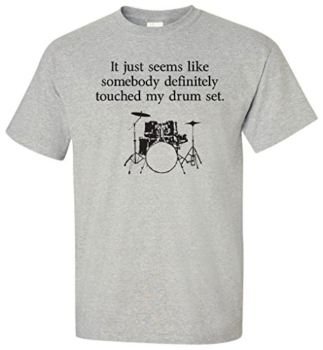 Stepbrothers Somebody Touched My Drum Set T-Shirt (X-Large) Sport Grey