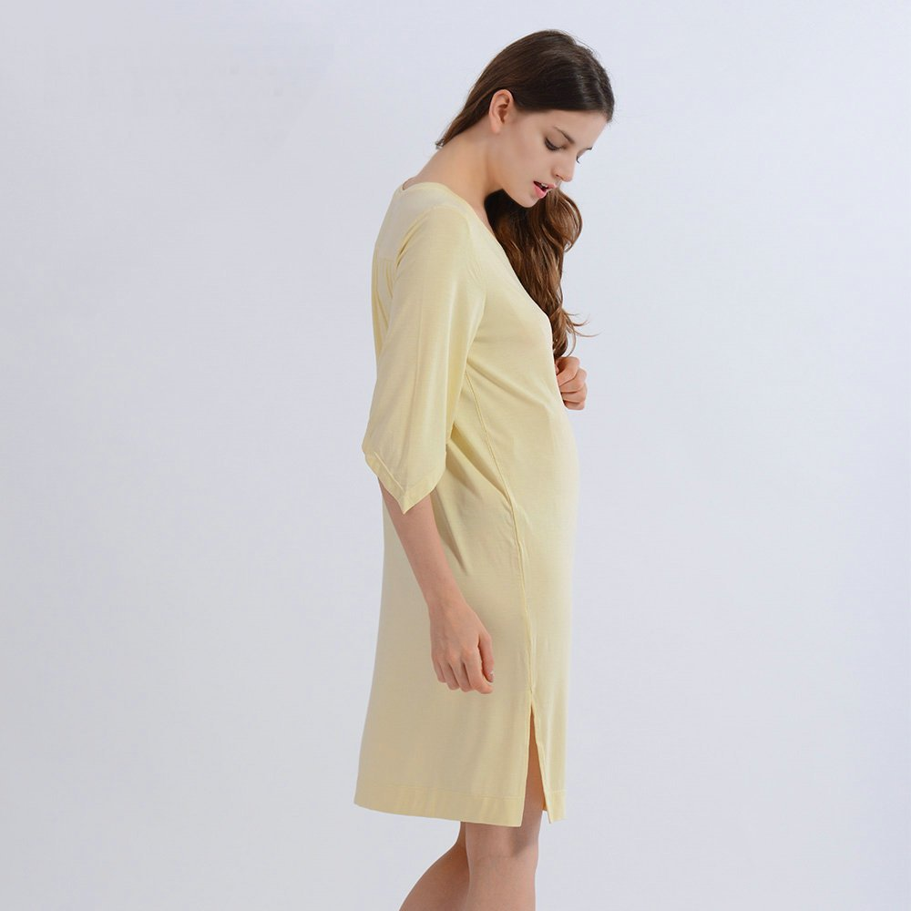 i-baby Pijamas Mujer Vestido Camisón Embarazada de Verano para Premamá Maternidad Ropa Interior Mujer de Manga Corta: Amazon.es: Ropa y accesorios