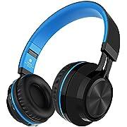 Bluetooth Kopfhörer, Sound Intone BT-06 Swift 4.0 Wireless, eine HiFi-Anlage mit Mikrofon, Stereosound, Lautstärkeregler und guter Geräuschdämpfun ggeeignet für FM-Rundfunk / MP3, WAV Audioformate(Blau)