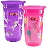 Nuby Sipeez 360 Degree Wonder Maxi Cups,Assorted , Pack of 2