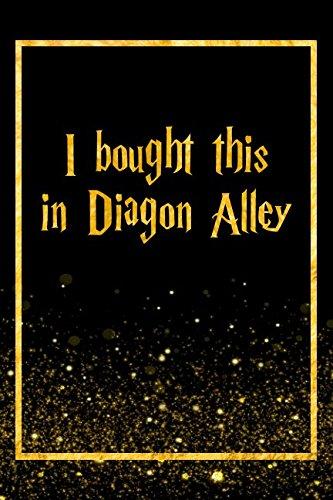 Read Online I Bought This In Diagon Alley: Black Harry Potter Designer Journal pdf