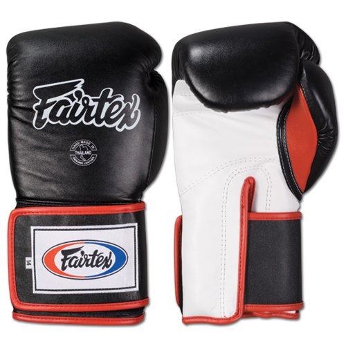 Fairtex Super Sparring Glove, Black/White, 14-Ounce