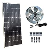 ECO-WORTHY Solar Power Attic Gable Fan - 100 Watts Monocrystalline Solar Panel Module - 65 Watts Ventilator Fan