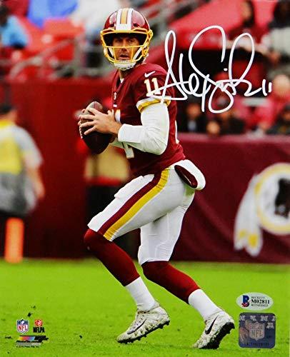 promo code 82d79 7f358 Alex Smith Autographed Redskins 8x10 Drop Back PF Photo ...