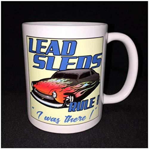 (Coffee Mug 11Oz Hot Rod Custom Car Coffee Mug Flamed 50 Mercury Lead Sleds Street Rod Chop Top Low Rider )