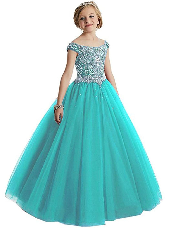 Amazon.com: MemoryTU Flower Girls\' Birthday Party Prom Ball Gown ...