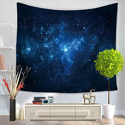 (Luckey1 Stars Nebula Wall Tapestry, Home Decoration Galaxy Wall Tapestry 80in x 60in (Galaxy Blue))