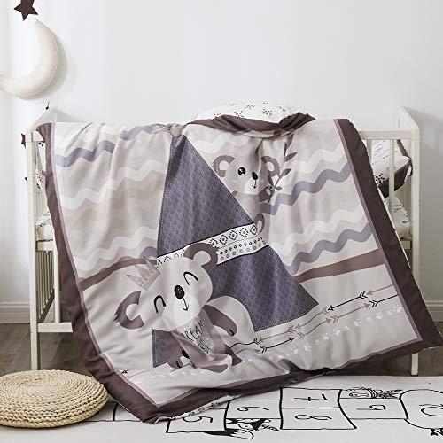 Pomco Mini Crib Bedding Set, 5PCS Koala Crib Baby Bedding Set-Includes Crib Comforter and Pillow Insert, Crib Duvet Cover, Fitted Sheet and Pillowcase, Animal Crib Bedding Set for Baby Boy Girl